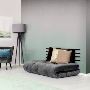 Wallart - Tapeta Ombre mint and grey - Tapeta na wymiar