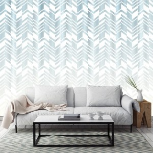Wallart - Tapeta Line-up blue ombre - Tapeta na wymiar