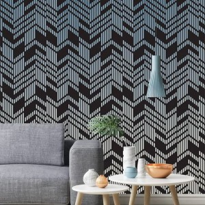 Wallart - Tapeta Line-up dark ombre - Tapeta na wymiar