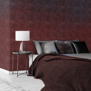 Wallart - Tapeta Ombre red wool - Tapeta na wymiar